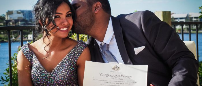 Marriage certificate Brisbane